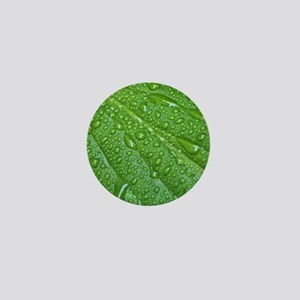 GREEN LEAF DROPS Mini Button