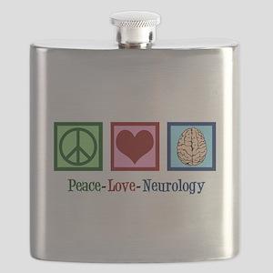Peace Love Neurology Flask