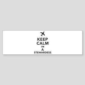 Keep calm I'm a Stewardess Sticker (Bumper)