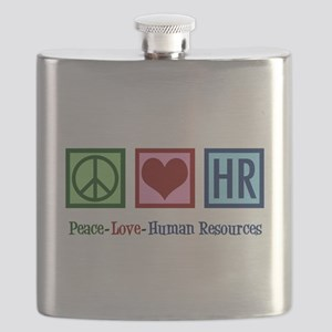 Peace Love HR Flask