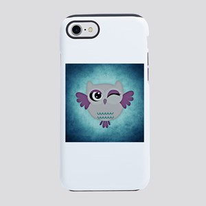 Blue Winking Owl iPhone 8/7 Tough Case