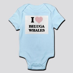 I love Beluga Whales (Heart Made from Wo Body Suit