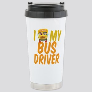 Bus Driver 16 oz Stainless Steel Travel Mug