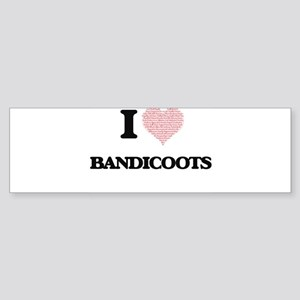 I love Bandicoots (Heart Made from Bumper Sticker
