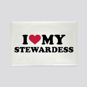 I love my stewardess Rectangle Magnet