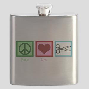 Peace Love Cut Flask