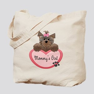 Mommy's Girl Yorkie Heart Tote Bag