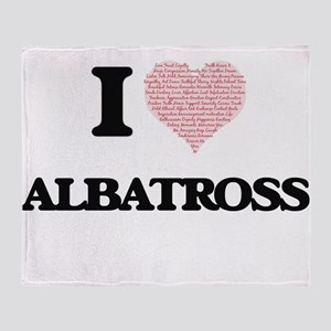 I love Albatross (Heart Made from Wo Throw Blanket