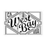 West Bay Rectangle Car Magnet