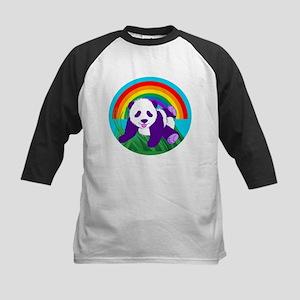 Purple Panda Kids Baseball Tee