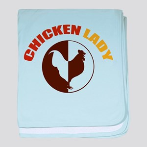 Chicken Lady baby blanket