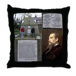 MUSSELp Burton's Tomb Throw Pillow