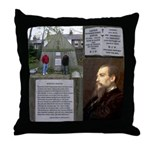MUSSELp Burton's Tomb Throw Pillow