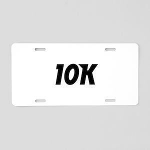 10K Aluminum License Plate