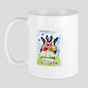 Boston Terrier Hugs Mug