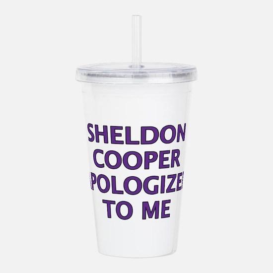 Sheldon Cooper Apologi Acrylic Double-wall Tumbler