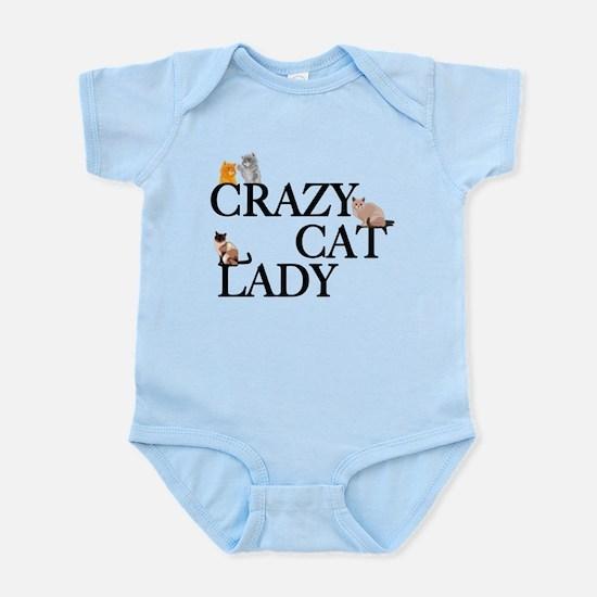 Crazy Cat Lady Baby Light Bodysuit