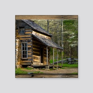 Cabin on Wood Sticker