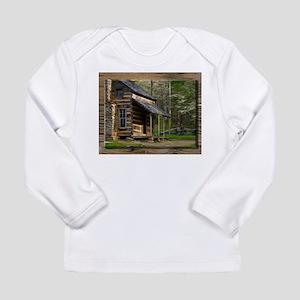 Cabin on Wood Long Sleeve T-Shirt