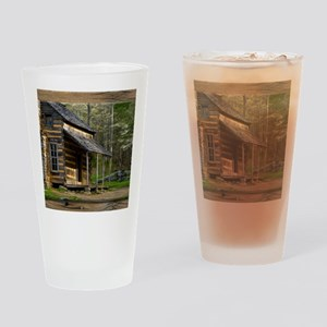 Cabin on Wood Drinking Glass