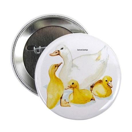"Duck and Ducklings 2.25"" Button (10 pack)"
