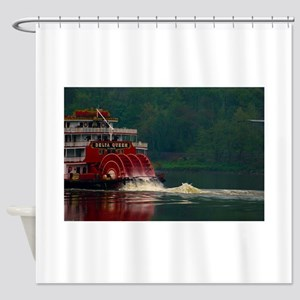 The Delta Queen On the Ohio Shower Curtain