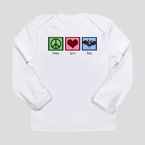 Peace Love Bats Long Sleeve Infant T-Shirt