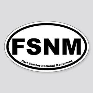 Fort Sumter National Monument Oval Sticker