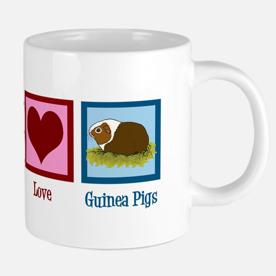 Peace Love Guinea Pigs 20 oz Ceramic Mega Mug