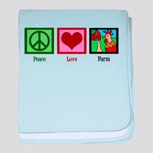 Peace Love Farm baby blanket
