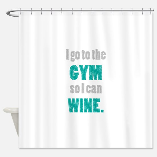Funny Wine Shower Curtain