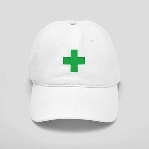 Green Cross Baseball Cap