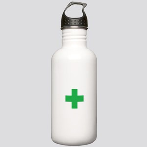 Green Cross Water Bottle