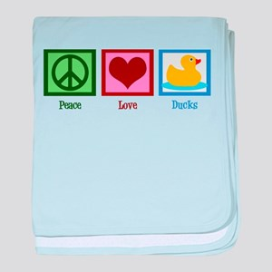Peace Love Ducks baby blanket