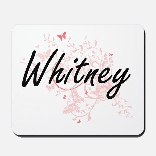 Whitney surname artistic design with But Mousepad