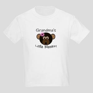 Grandma's Little GIRL Monkey Kids Light T-Shirt