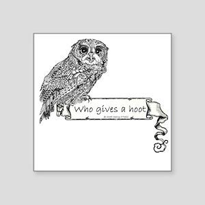 "Hoot Owl Square Sticker 3"" x 3"""