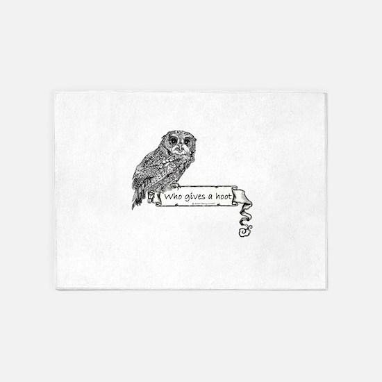 Hoot Owl 5'x7'Area Rug