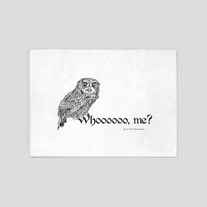 Who Owl 5'x7'Area Rug