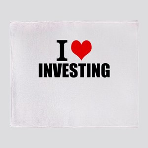 I Love Investing Throw Blanket