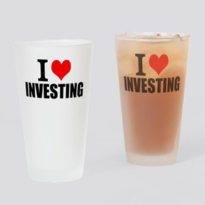 I Love Investing Drinking Glass