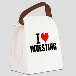 I Love Investing Canvas Lunch Bag