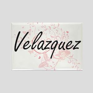 Velazquez surname artistic design with But Magnets