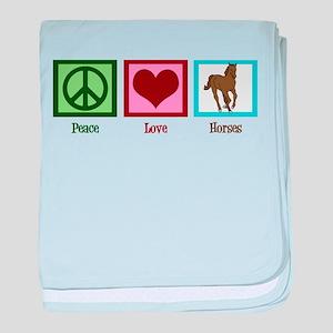 Peace Love Horses baby blanket