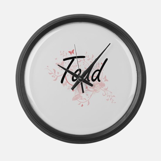 Todd surname artistic design with Large Wall Clock