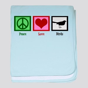 Peace Love Birds baby blanket