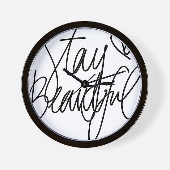 Stay Beautiful Wall Clock