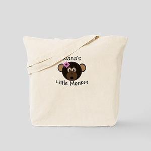 Nana's Little GIRL Monkey Tote Bag