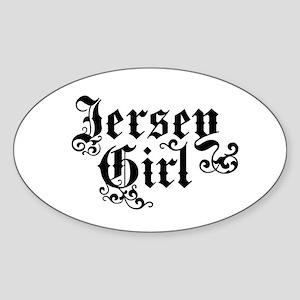 Jersey Girl Oval Sticker