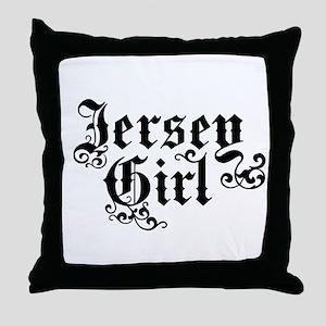 Jersey Girl Throw Pillow